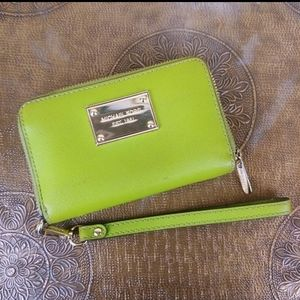 Michael Kors Lime Green Leather Wallet